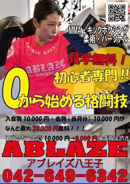 MMA(総合格闘技)・キックボクシング・柔術・パーソナル 見学無料!初心者専門!